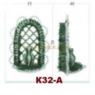 Фон корзины,К32-А,ПВХ,металл